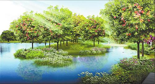 沖水系環境綜合整治工程的園林綠化設計方案已經出爐